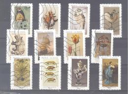 France Autoadhésifs Oblitérés (Série Complète : Un Cabinet De Curiosités) (lignes Ondulées) - Used Stamps
