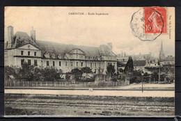 CPA 50 - CARENTAN  ( Ref 50 - 370)  L'école Supérieure - Carentan