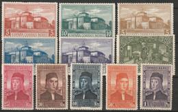 Spain 1930 Sc C31-41 Ed 547-57 Air Post Partial Set MH - Neufs