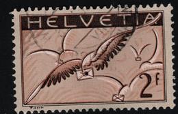 1930 Brieftaube Mi CH 245z  Zum CH F13z  Gestr. Papier Chalky Paper Gest. O - Usados