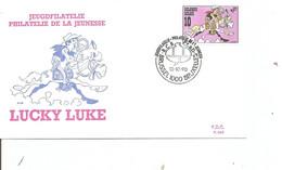 Belgique - BD - Lucky Luke (  FDC De 1990 à Voir) - 1981-90