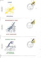 Belgique - Oiseaux - Buzin ( 3 FDC De 1992 à Voir) - 1991-00