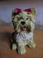 Ancien - Petit Chien En Résine - Yorkshire Terrier - Tiere