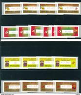 Belgio - Lotto Di 54 Francobolli Automatici, Adesivi ( Luxphila, Phileuro,Euro Phila, ) Vari - Nuovi - Ungebraucht