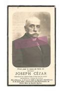 DD 523. JOSEPH CEZAR - Directeur Du Laboratoire D'analyses De L'état - °PERWEZ 1866 / +GEMBLOUX 1924 - Andachtsbilder