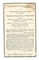 Doodsprentje Soldaat 8ste Regiment Artillerie Velzeke-Ruddershove + Zwijnaarde 21 Mei 1940 - Andachtsbilder