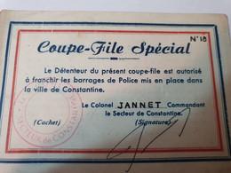 CONSTANTINE COUPE FILE SPECIAL - Documentos Históricos
