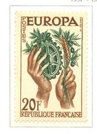 France - Neuf - 1957 Y&T 1122 - EUROPA - Engrenages - (1) - Neufs