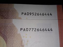 2x 10 EURO - NETHERLANDS -  P001 - PA095 2646444 / PA077 2646444 - FDS - UNC - NEUF - 10 Euro