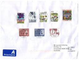 (X21 Large) Cover Posted From Denmark To Australia (with CN 22 Douane - Custom Form At Back) - Cartas