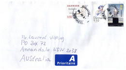 (X21) Letter Posted From Denmark To Australia - Cartas