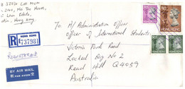 (X21) Letter Posted Registered From Hong Kong To Australia - Unclassified