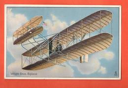 ZFA-33  Wright Bros. Biplans.  Tucks Post Card. Gaufré. Message Au Dos - ....-1914: Precursori