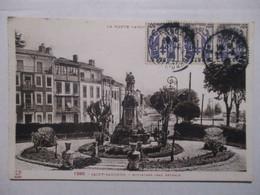 CPA CPSM CP HAUTE GARONNE 31 SAINT-GAUDENS - BOULEVARD JEAN BETMALE / STATUE - BON ETAT - Saint Gaudens