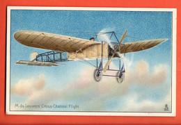ZFA-35 M. De Lesseps Cross-Channel Flight. Tucks Post Card. Gaufré. Message Au Dos - ....-1914: Precursori