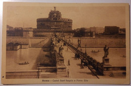 Roma - Castel Sant'Angelo E Ponte Elio - Botticella, Carrozza - Viaggiata 1914 , Due Bolli Effigie 5c - Castel Sant'Angelo