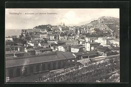 Cartolina Ventimiglia, Panorama Con Stazione Ferroviaria, Bahnhof - Andere Städte