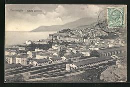 Cartolina Ventimiglia, Veduta Generale, Panorama Mit Bahnhof - Andere Städte