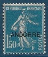 Andorre N°13* 1fr50 Neuf Trés Frais TTB - Neufs