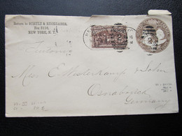 GANZSACHE New York Osnabrück 1894  ///  I1497 - Cartas