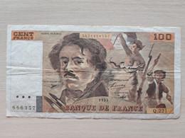 France > 1962-1997 ''Francs'' > 100 F 1993 ''Delacroix'' - 100 F 1978-1995 ''Delacroix''
