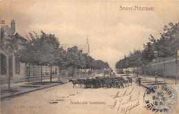 LOIRE ATLANTIQUE  44  SAINT NAZAIRE - BOULEVARD GAMBETTA - TROUPEAU DE CHEVRES - Saint Nazaire
