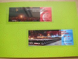 Beijing Olympic 2008 Closing Ceremony Special Issued Commemorative Tickets, Set Of Two Tickets In Folder.see Description - Mundo