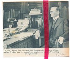 Orig. Knipsel Coupure Tijdschrift Magazine - Overlijden Minister Sap Uit Beernem - 1940 - Unclassified