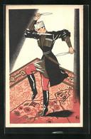 CPA Illustrateur Paris, Chateau Caucasien, 54 Rue Pigalle, Kaukasischer Messertanz - Unclassified