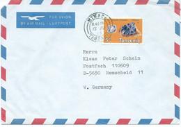 Africa > Tanzania  Letter Via Germany 1986.stamp : 1986 Minerals - Tanzania (1964-...)