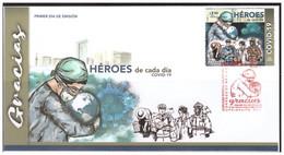 2020 MÉXICO FDC Héroes De Cada Día COVID 19 SOBRE PRIMER DÍA DE EMISIÓN, FDC Everyday Heroes COVID 19 - México