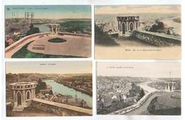 JM25.11 /  CPA /  NAMUR - 8 X LE DONJON  - LA TOURELLE DES GUETTEURS - GUERITE DU SONNEUR.... - Namur