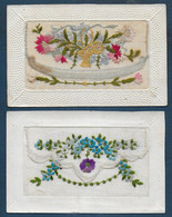 2 Cartes Brodées - Embroidered