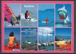 Hungary, Lake Balaton, Multi View With A Topless Girl And Nivea Ad, 1994. - Hungary