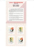 Collector Livret ID Timbres Centenaire Remise Prix Nobel De La Paix à Léon Bourgeois. Dessin R. Irolla - Collectors