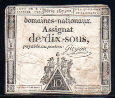 554-Assignats De 10 Sous 1792 Série 1671 - Assignats