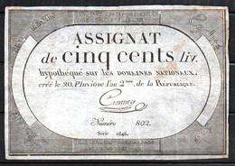 554-Assignats De 500 Livres De L'An II Série 2846 - Assignats