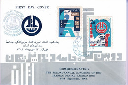 IRAN - FDC -  1964 - 2e Congrès International Des Associations Des   Dentistes, - Irán