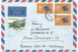 Africa > Tanzania Letter Via Germany 1986.stamp : 1986 Minerals & 1985 Rare Animals Of Zanzibar,turtle - Tanzania (1964-...)