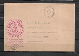 S.N.L.E LE TERRIBLE  (I) - Pli Officiel En Franchise 6 - TàD BREST SOUS MARINS MARINE 01/10/75 - Naval Post