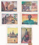 Chromo - Image : 6 Images : Chocolat CEMOI : N° 1 - 2 - 5 - 7 - 8 - 9 : Série B - K : Afrique : - Sin Clasificación