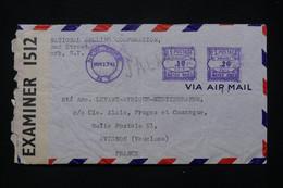 ETATS UNIS - Enveloppe Commerciale De New York Pour La France En 1941 Avec Contrôle Postal - L 79370 - Cartas