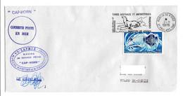 FSAT TAAF Cap Horn Sapmer 02.03.78 SPA T. 3.00 Satellites (3) - Covers & Documents