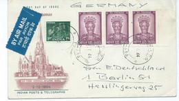 India Cover - San Thome Chatedral,Mylapore,Madras Letter Via Germany 1964 - Briefe U. Dokumente
