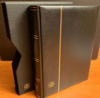 Classeur Leuchtturm Noir+ Etui 64 Pages Noir LZS 4/32 N Très Bon état - Formato Grande, Fondo Negro