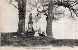 CPA    51   POGNY---MONUMENT DU SOUVENIR FRANCAIS---1918---RARE ? - Autres Communes