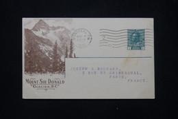 CANADA - Entier Postal Illustré De La Canadian Pacific Railway Cie  Pour La France En 1918 - L 79383 - 1903-1954 Reyes