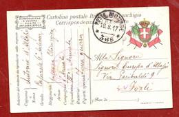 1917 POSTA MILITARE  * 36 - B * + Ambulanza Chirurgica D'Armata N.6 -  CARTOLINA POSTALE ITALIANA FRANCHIGIA  - RARA - Posta Militare (PM)