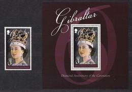 Gibraltar 2013 Yvertn° 1523 Et Bloc 113 *** MNH Cote 21 € La Reine Elizabeth II - Gibraltar