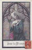 D3001 JEUNE FEMME RELIGIEUSE DEVANT UN VITRAIL - L'ESPERANCE - POUR LA FRANCE - N°3394 - Frauen